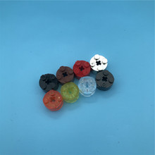 20Pcs/lot Technic Parts Brick Round 2*2 with Axle Hole Enlighten Blocks Assembles Particles Compatible 6143