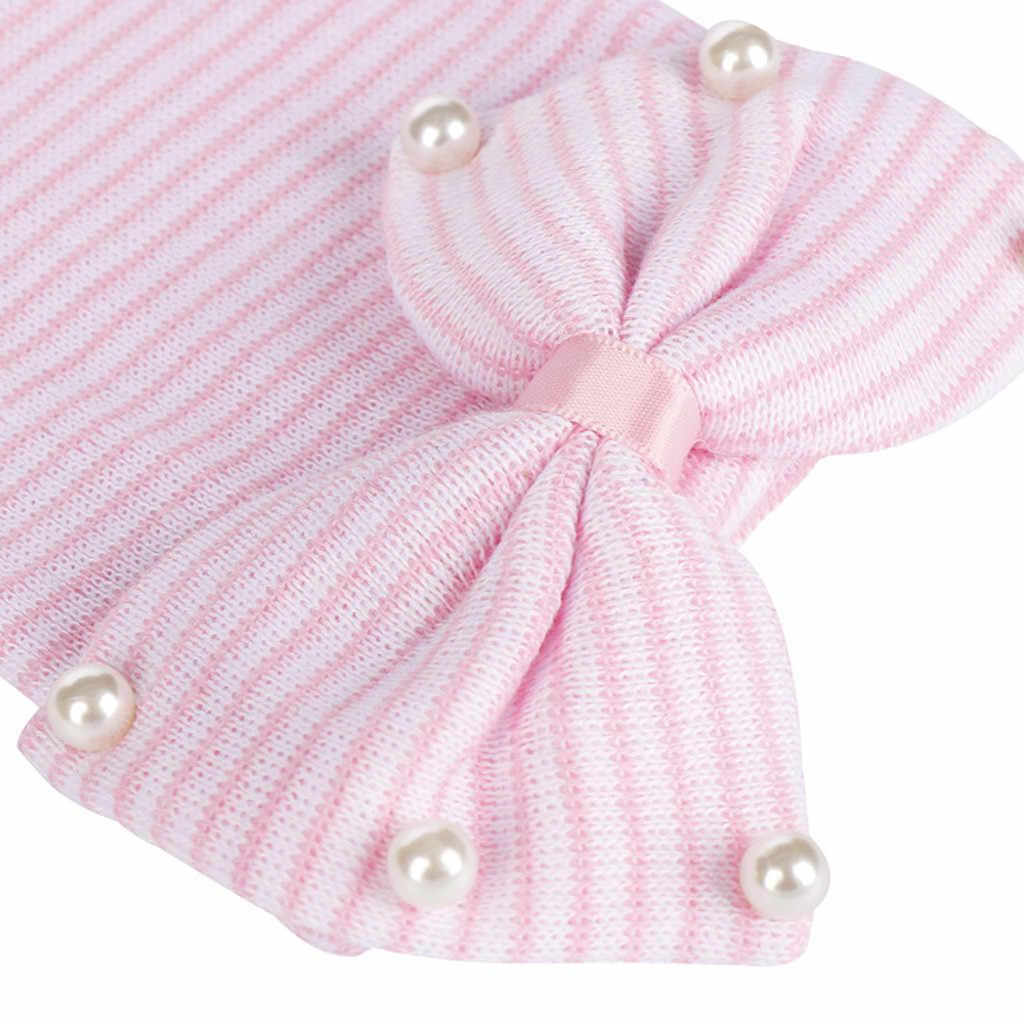 2019 אופנה יילוד תינוק כובע Bearl ואגלי Bow-Knot מצנפת תינוק אבזר יילוד המהומים כפת כובע כובע chapeau enfant ete