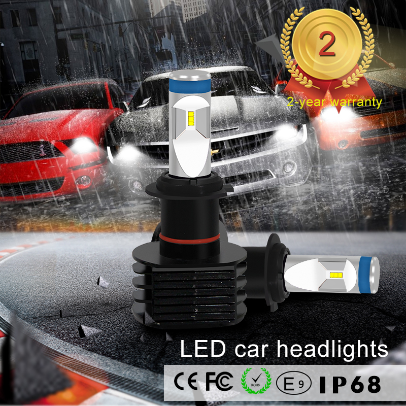 ФОТО KSEGA Hot Selling Super Bright Auto Fari LED H7 H8/H9/H11 HB3/9005 HB4/9006 80 W 8000lm With Canbus Auto mortorcycle parts