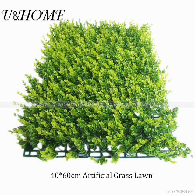 60*40cm artificial green grass lawn plastic plants sod high quality