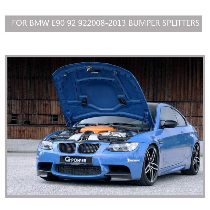 M3 Carbon e90 e92 Canard Front lip spoiler front for bmw E90 E92 E93 M3 splitter side spoiler Design 2007-2012 olotdi carbon fiber front lip spoiler gts style front bumper for bmw e92 e93 m3 bumper car styling accessories factory