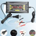 Input 110V-240V Output 12V 6A Smart Fast Battery Charger For Car Motorcycle LCD Display