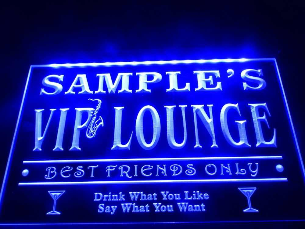 DZ039- Name Personalized Custom VIP Lounge Best Friends Only Bar Beer  LED Neon Light Sign