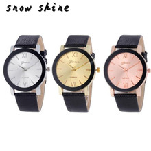 snowshine #10    Luxury Quartz Sport Military Stainless Steel Dial Leather Band Wrist Watch Men   free shipping