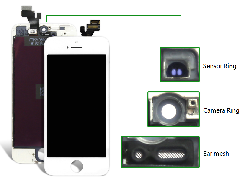 Highscreen Brand New AAA Quality LCD For iPhone 5 Screen With Digitizer Assembly +Camera Holder best price brand new for highscreen