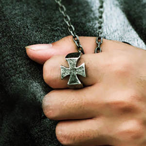 Vintage Cross Ring Male 316L Stainless Steel Rock Punk Couple Rings For Women Men Retro Jewelry Knights Templar Accessories Gift