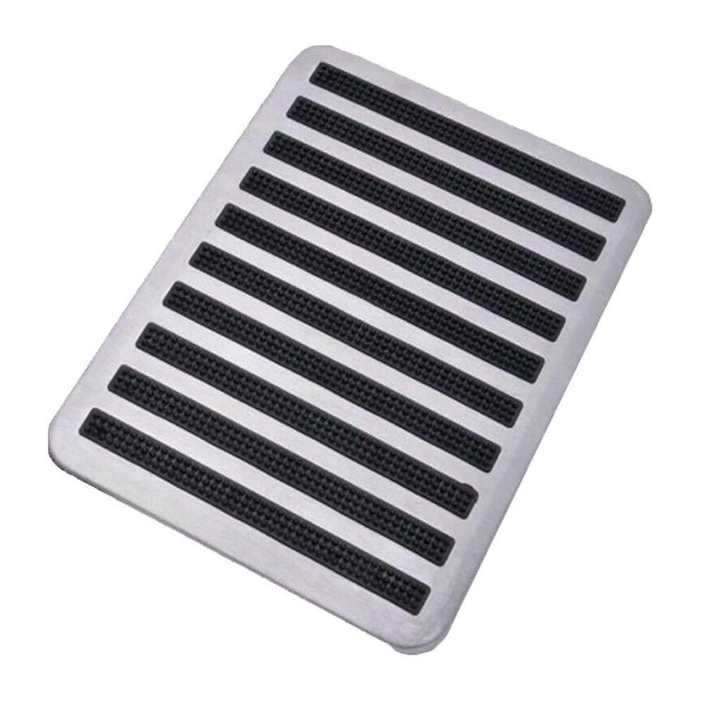 1PCS Stainless Steel+Rubber Floor Carpet Mat Patch Foot Heel Plate Pedal Pad For Car Auto Accessories Car Mats