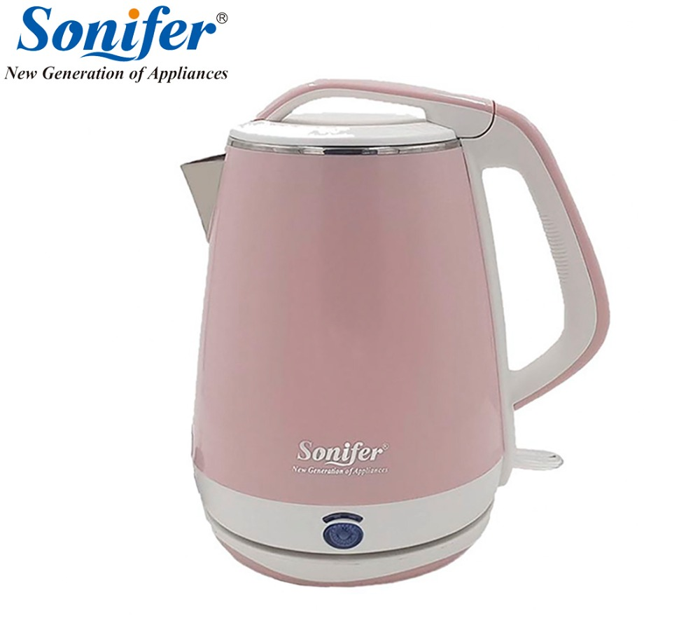 Original 1.8L Colorful Electric Kettle 1500W Household Quick Heating Electric Boiling Pot Sonifer 1 7l original colorful electric kettle glass 2200w household quick heating electric boiling pot sonifer
