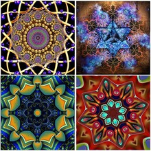 5D DIY Diamond Painting Art Colorful Mandala Flowers Full Square Kits Home Decorations Gifts Embroidered 3D Mosaic Cross Stitch