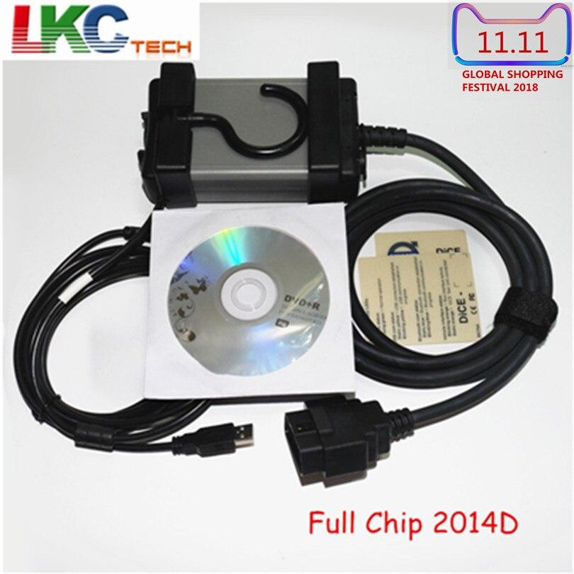 2018 V-o-lvo Vida Dice Full Chip 2014D Auto OBD2 Diagnostic Tool Green PCB Board Multi-language A+ Quality Full Function Scanner multi function green