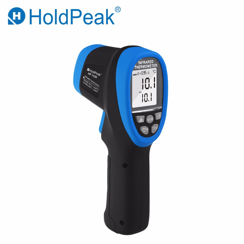 HoldPeak HP-1420 Digital Double Laser Infrared Thermometer Non-Contact 30:1 DS Handheld Gun Industrial -50 to 1420 degree TesterHoldPeak HP-1420 Digital Double Laser Infrared Thermometer Non-Contact 30:1 DS Handheld Gun Industrial -50 to 1420 degree Tester