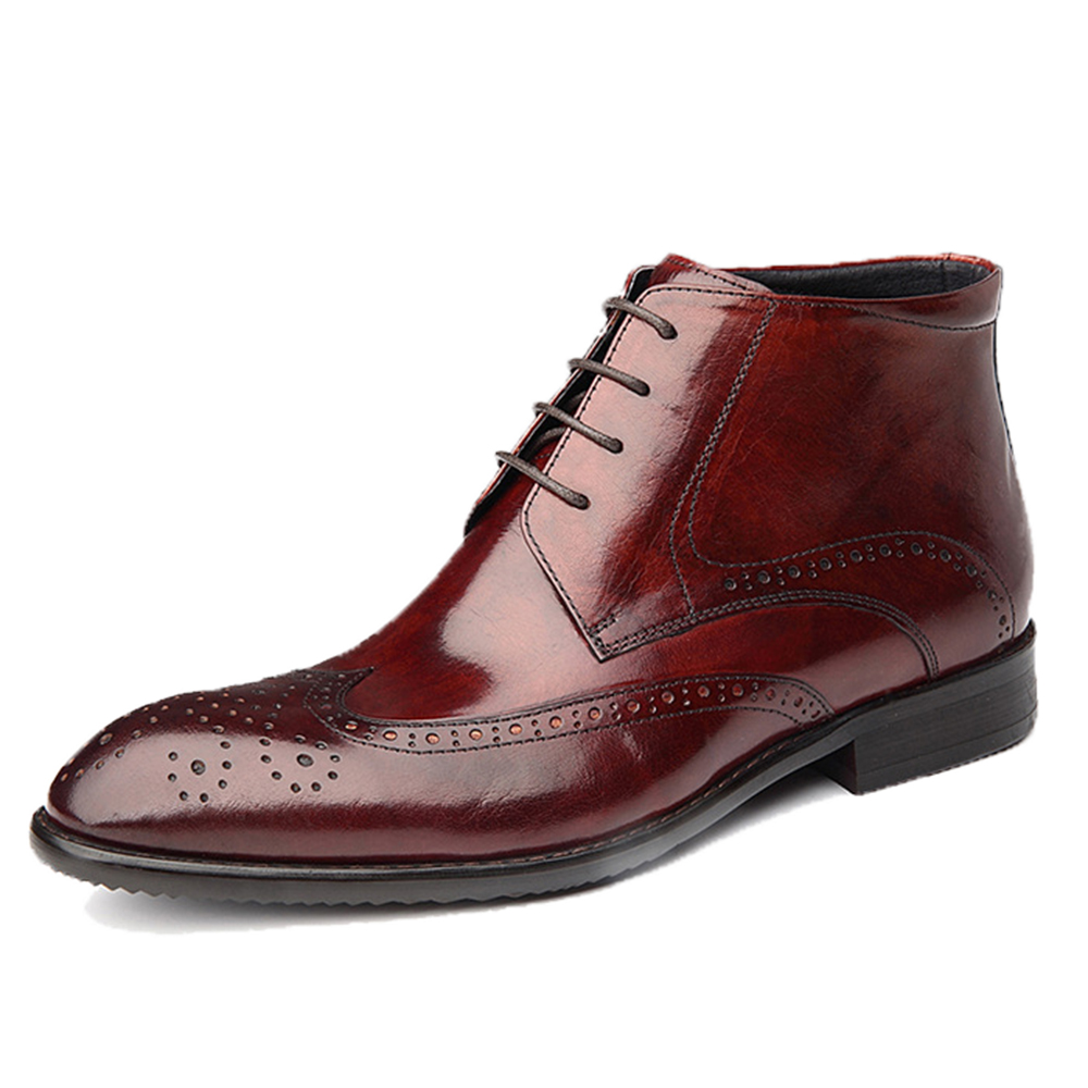 Men Ankle Boots Genuine Leather Men Oxford Motorcycle