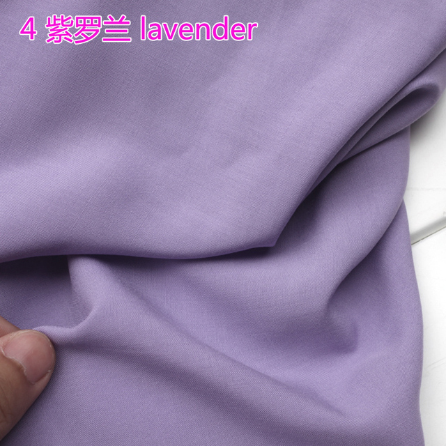 "Lavender Viscose Fabric Cotton Fabric Silk Artificial Cotton Fabric Skirt Fabric 60"" Wide Sold By The Yard Free Shipping !"