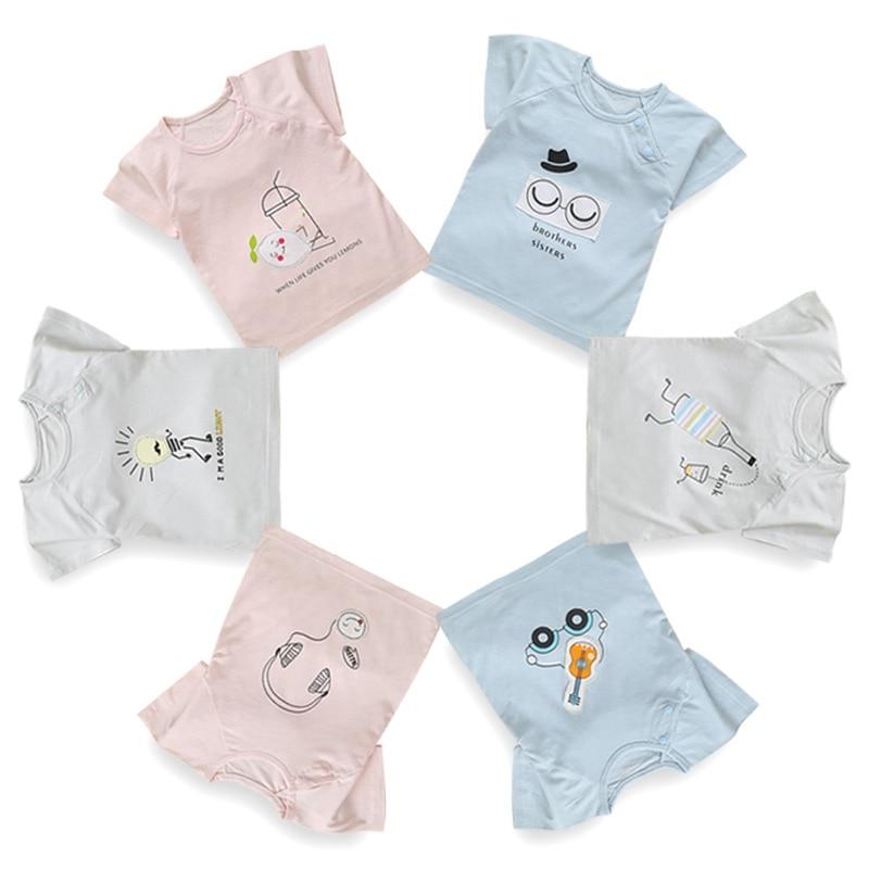 2018 Caldo Del Bambino Di Estate Delle Ragazze Del Ragazzo Casual T-shirt Infant Bambini A Maniche Corte Modello Di Stampa Tee Shirt Neonato Outfits Per 0-2 T L1