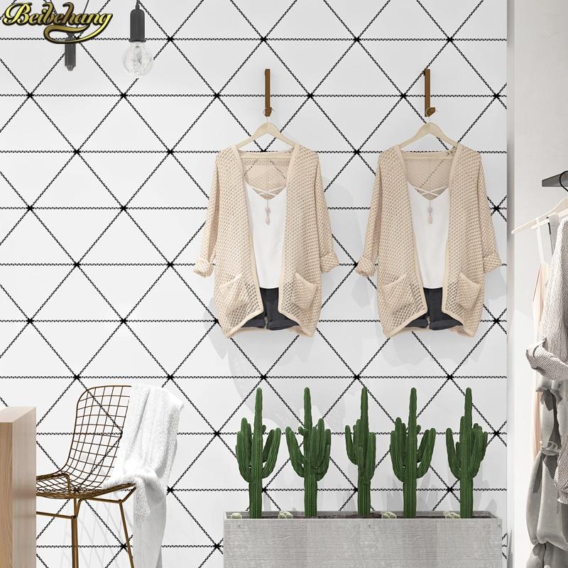 Beibehang stile Nordico sfondo carta da parati moderna minimalista  geometrica del triangolo soggiorno camera da letto carta da parati papel de  parede