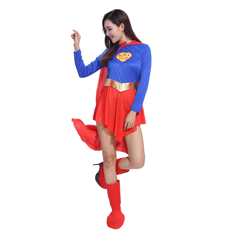 2016 New Halloween Superman costume adult female role playing anime COSPLAY stage clothes and costumes
