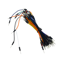 65pcs/Pack Breadboard Jumper Cables Mix Color Male to Male Solderless Flexible Breadboard Jumper Cable Wire wholesale