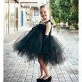Super Cool Flower Girl Black Tutu Dress Cute Knee Length Girls Birthday Party Desses Ball Gown for Toddler Kids