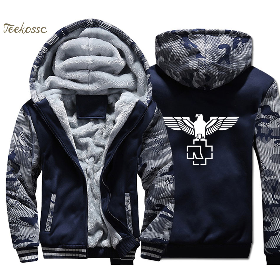 Music Hoodie Men Punk Rock Hooded Sweatshirt Coat 2018 New Winter Warm Fleece Thick High Quality Band Jacket Hip Hop Streetweat