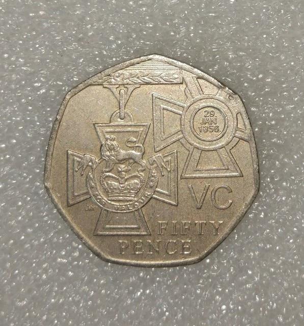 Britischen 50 Pence Victoria Cross Münzen Commonwealth Land