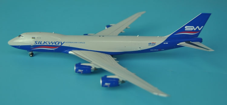 Special offer new Ge iniJets 1: 400 GJAZQ1553 Silkway Airlines B747-8F Alloy aircraft model Collection model Holiday gifts fine special offer jc wings 1 200 xx2457 portuguese air b737 300 algarve alloy aircraft model collection model holiday gifts