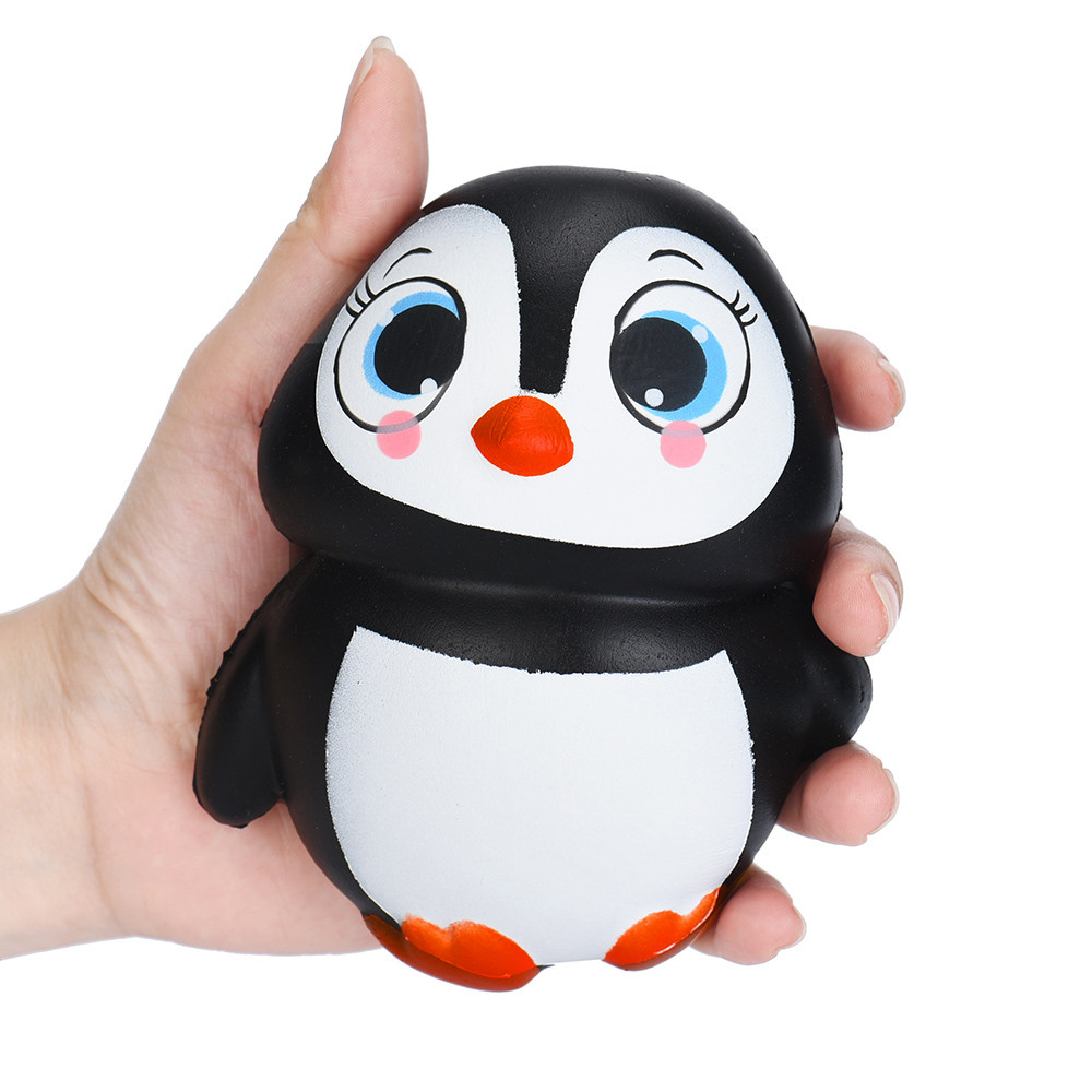цены Cute Penguins Squishy Slow Rising Cream Scented Decompression Toys Stress Reliever Play with you Squeeze Hand Toy Nice Gift