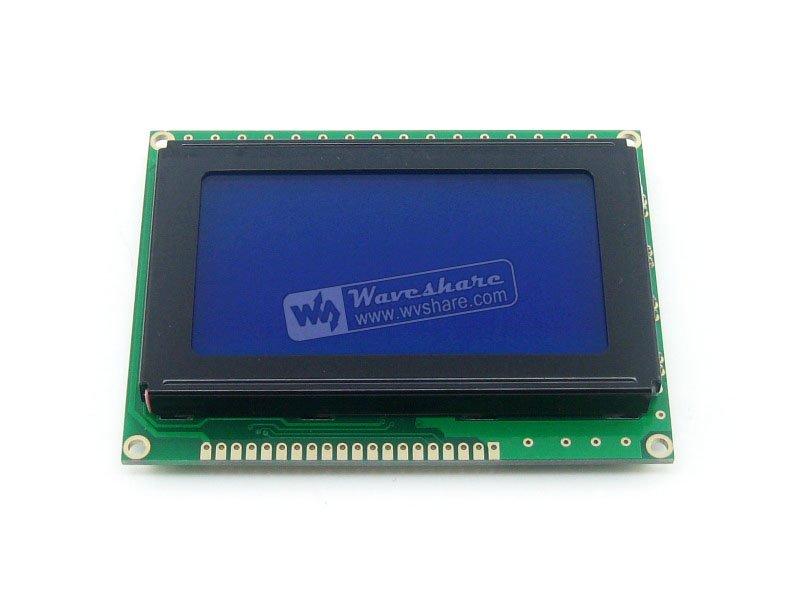 Module 12864 128*64 Graphic Matrix Lcd Lcm Display Module Tn/stn Blue Backlight White Character 5v Logic Circuit