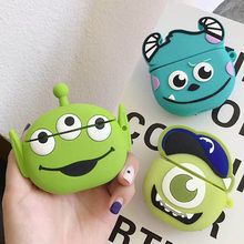 Mike Sulley Monsters Silicon Case for Airpods Bluetooth Wireless Earphone Case Charging Box Alien Cartoon Bags for Airpods 1 2(China)