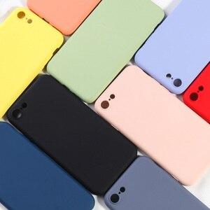 Image 1 - Vollständige Abdeckung Silikon Fall Für iPhone 7 8 Weiche TPU Silikon Protector Zurück Telefon Abdeckungen Für iPhone 6 6 s plus X XR XS MAX Coques