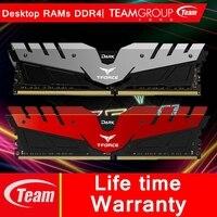 Команда группы темно-серии DDR4 Desktop памяти 4G 8 г 16 г компьютер баранов оверлоком модуль памяти 288 pins 2400/3000/3200 мГц Рамс