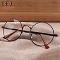 TFJ Женская Мода Очки Кадров Мужчин Марка Металла Старинные Круглые Очки Золотой Щит Рамка С Очки Лето Очки