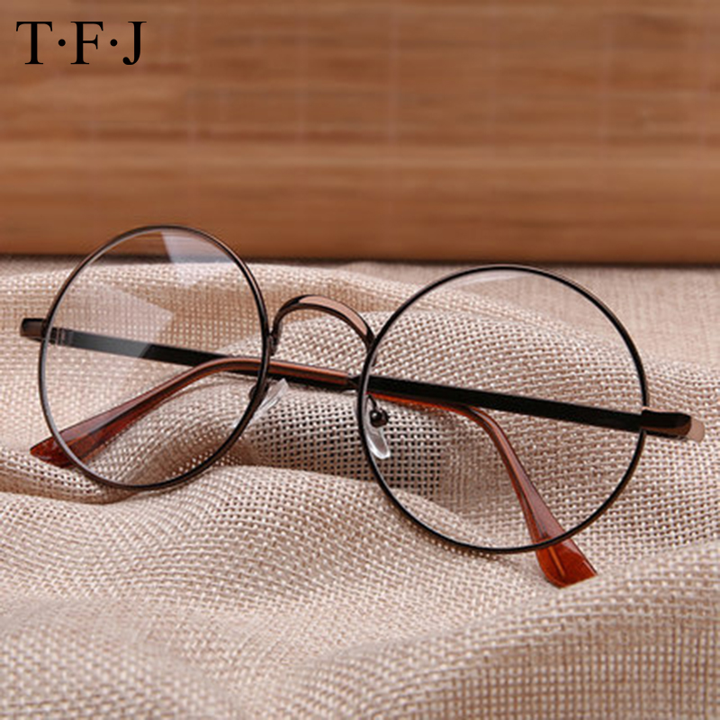 Full Rim Metal Glasses Frame Vintage Round Nerd  Summer Spectacles Women Computer Clear Lens Eyeglass Womens