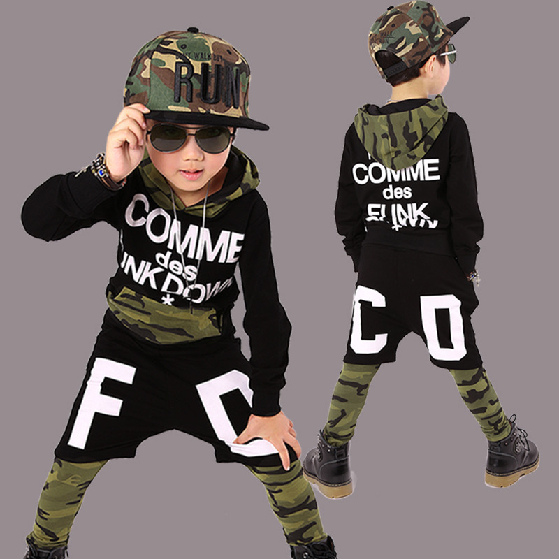 2017 Spring Children Suits Boys Hip Hop Style Clothing