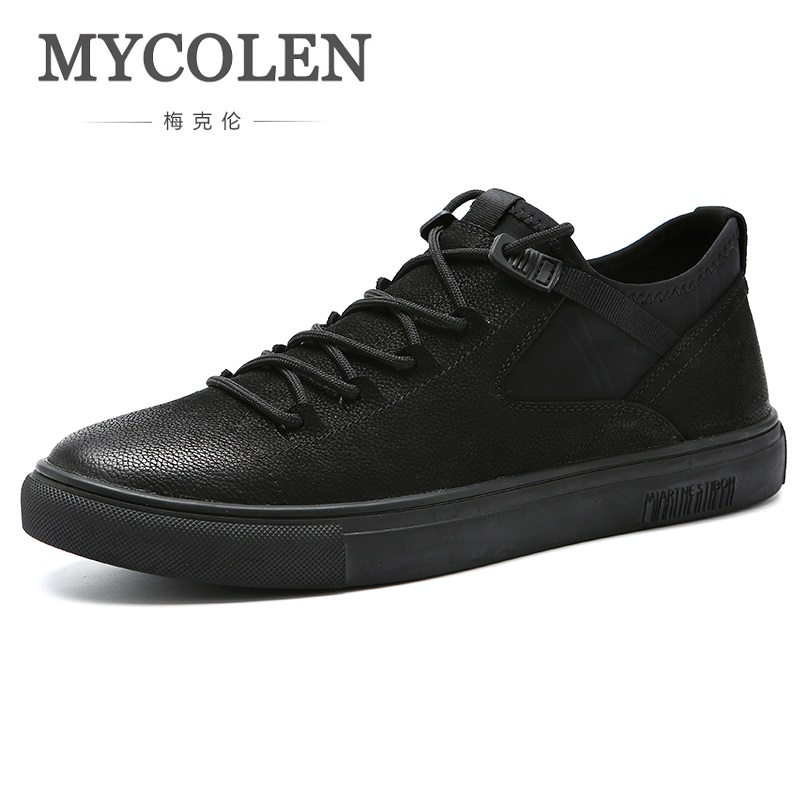 MYCOLEN 2018 New Arrival Men's Fashion Sneakers Men Spring Autumn Brand Designer Men Shoes Comfortable Black Casual Shoes spring autumn casual men s shoes fashion breathable white shoes men flat youth trendy sneakers
