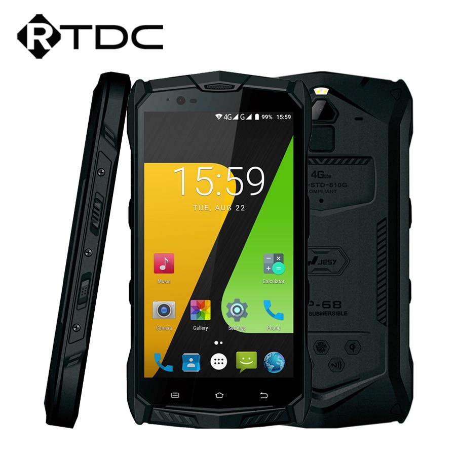 "Original JESY J9S IP68 Waterproof Ruggedised Mobile Phone Android 7.0 5.5""FHD 4GB RAM 64GB ROM MT6755 Octa Core 16MP 6150mAh NFC"