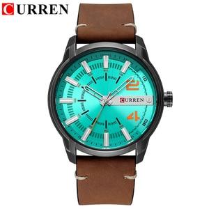 Image 2 - CURREN Мужские часы, люксовый бренд, военные спортивные часы, мужские кварцевые часы, мужские повседневные кожаные Наручные часы, мужские часы