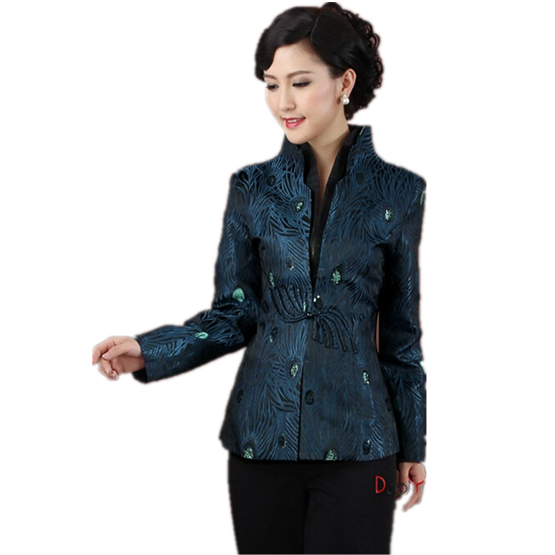 Motivated Hottest Chinese Style Lady Silk Satin Overcoat Vintage Mandarin Collar Jacket Single Button Coat Tang Suit Size S To 4xl Basic Jackets