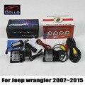 Para Jeep wrangler 2007 2015 2 em 1 sistema de segurança anti colisão ativo carro câmera de visão traseira de nevoeiro lâmpada / CCD