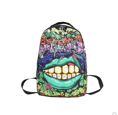 6 Styles NEW Fashion Harajuku Girl Cartoon Graffiti Backpack Men's Hip Hop Lips Schoolbag Women's Animal Travel Shoulder Bag