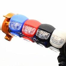 Велосипедный передний светильник, силиконовый светодиодный фонарь на переднее заднее колесо, велосипедный светильник, водонепроницаемый велосипедный светильник с батареей, Аксессуары для велосипеда, велосипедная лампа