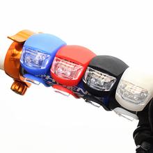 Przednie światło roweru silikonowa głowica led przednie tylne koło światło rowerowe wodoodporna jazda na rowerze z akumulatorem akcesoria rowerowe lampa rowerowa tanie tanio ZUOFILY BTC001 CCC CE Kierownica Baterii Life waterproof Silicone 2* AG10 batteries 4 modes(Normal-Fast flash-Slow flash)