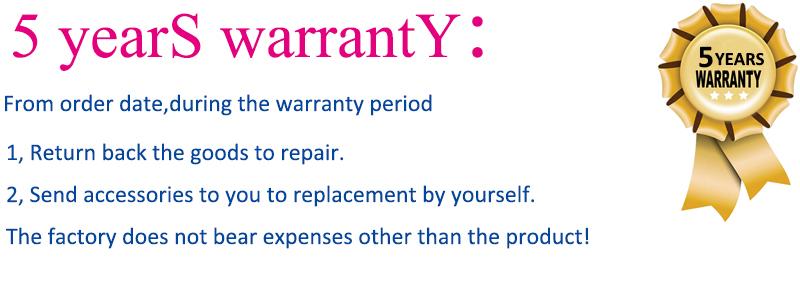 5years warranty