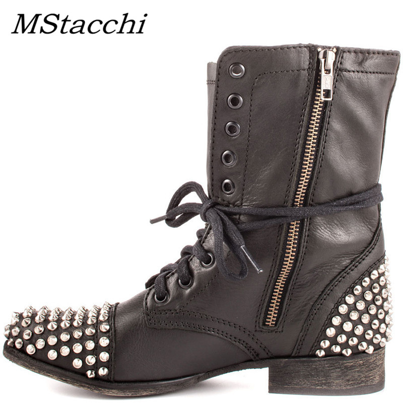 Girls New Style Ladies Fashion Metal Stud Spike Platform