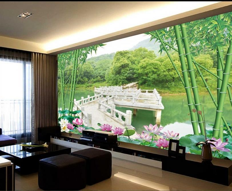 Delightful 3d Wall Murals Wallpaper, Photo Green Landscape Wall , High End Mural For  Tv Sofa Background Wall ,papel De Parede Floral In Wallpapers From Home ... Part 9