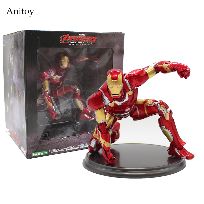 Avengers Age of Ultron Iron Man 1/6 Scale Pre-Painted Model Kit PVC Figure Collectible Model Toy 17cm KT3974 superheroes the 2 age of ultron hulk ultron pvc action figure toy collectible model doll great gift 25cm 23cm