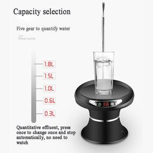 Image 4 - Woda butelkowana pompowanie USB akumulator dozownik do wody gospodarstwa domowego elektryczny czysty wiadro ciśnienie wody bezprzewodowa pompa wody