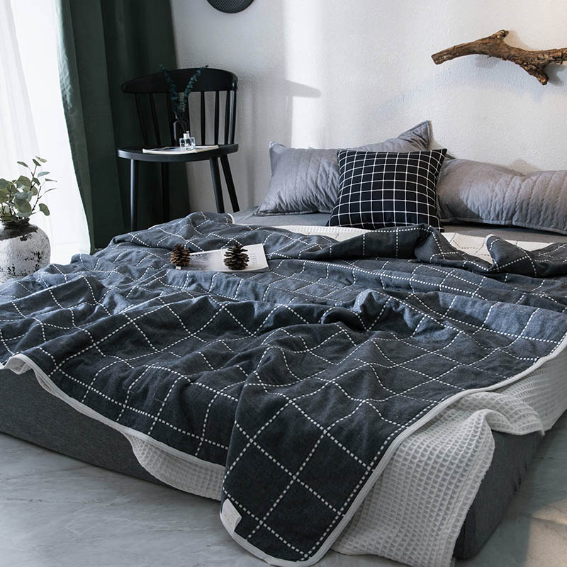 Plaid Blanket manta para sofa blankets for bed 100% cutton soft throw blanket on bedspread sofa plane home textile cobertor 1 PC