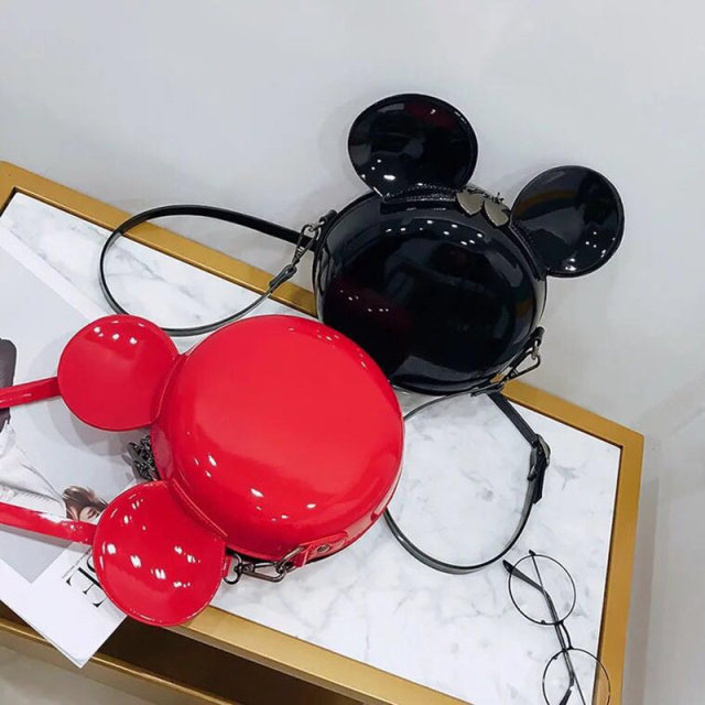 New Fashion Design Women Mickey Shaped Bag Cute Funny Women Evening Bag Clutch Purse Chain Shoulder Bag for Birthday Gift