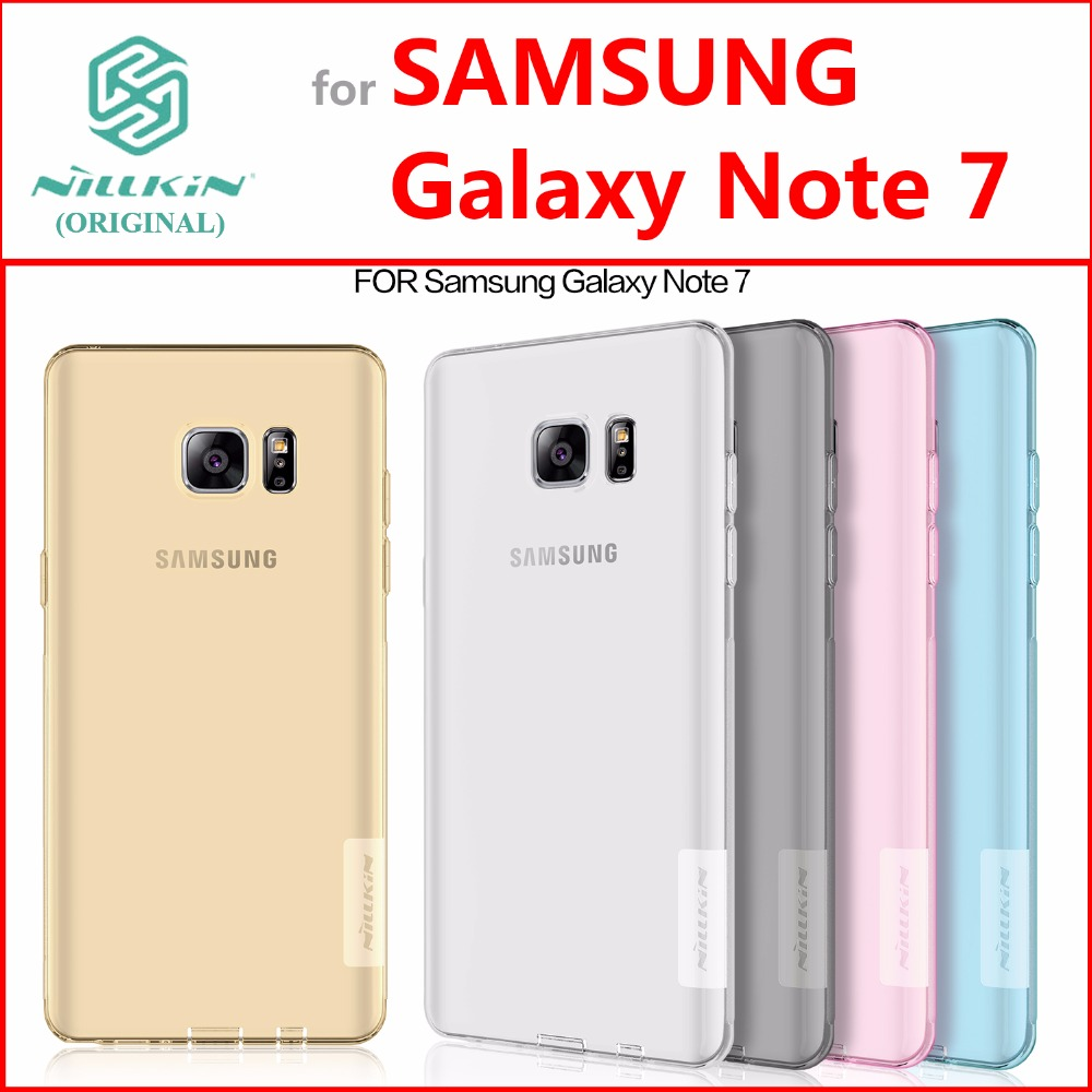 Soft TPU Case for Samsung Galaxy Note 7 Original NILLKIN Nature Silicone Gel Cover for Samsung Galaxy Note 7 Super Thin 0.6mm