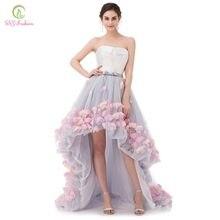 c727c8d8559 SSYFashion Sexy sans bretelles sans manches court avant Long dos dentelle  fleur robe de soirée mariée Banquet formelle robes de .